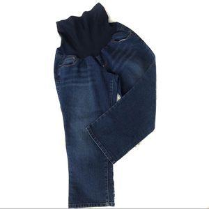 Motherhood Maternity Dark Wash Denim Capris Jeans